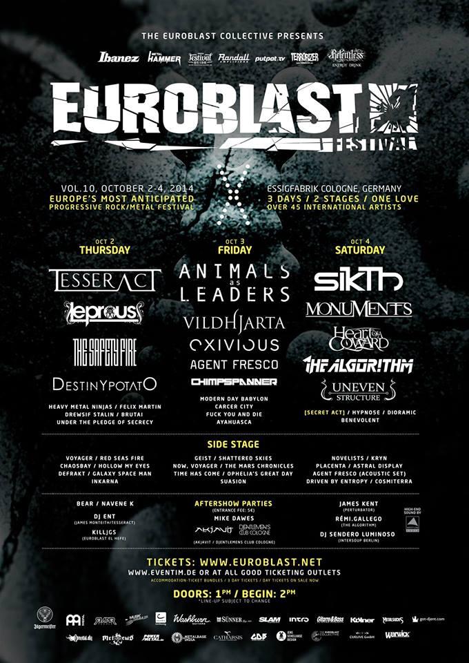 Euroblast 10, 2014